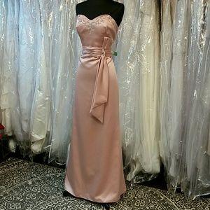 Beautiful Blush Pink Satin Gown